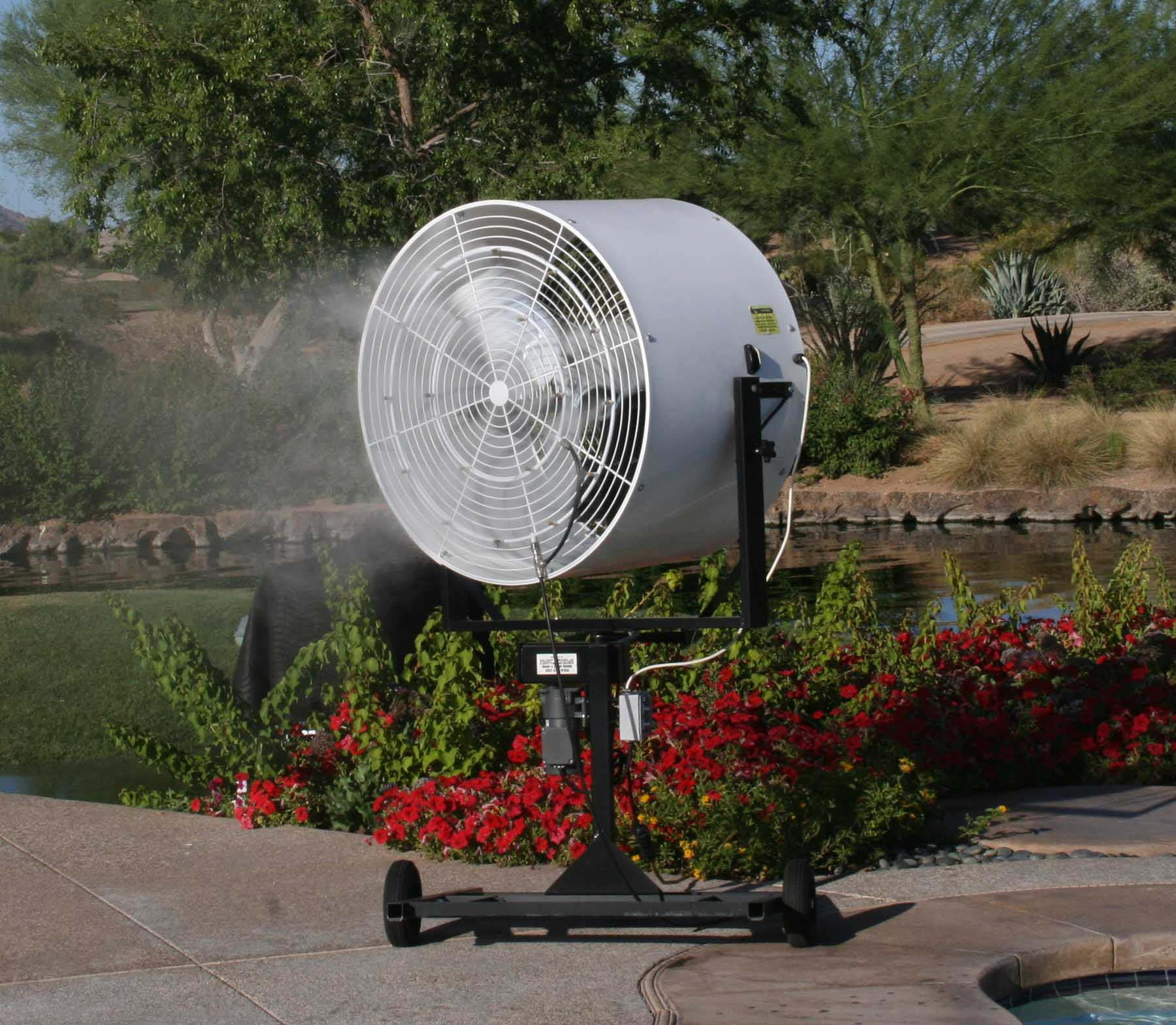Great YouTube Outdoor Cooling Rental Phoenix AZ. Fog Misting Fans
